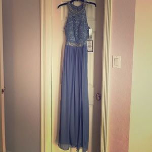 *SOLD* Beautiful NWT periwinkle long dress.